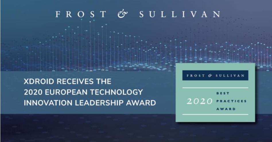 Xdroid celebrates winning Frost & Sullivan's Voice and Facial Analytics Technology Innovation Leadership Award.